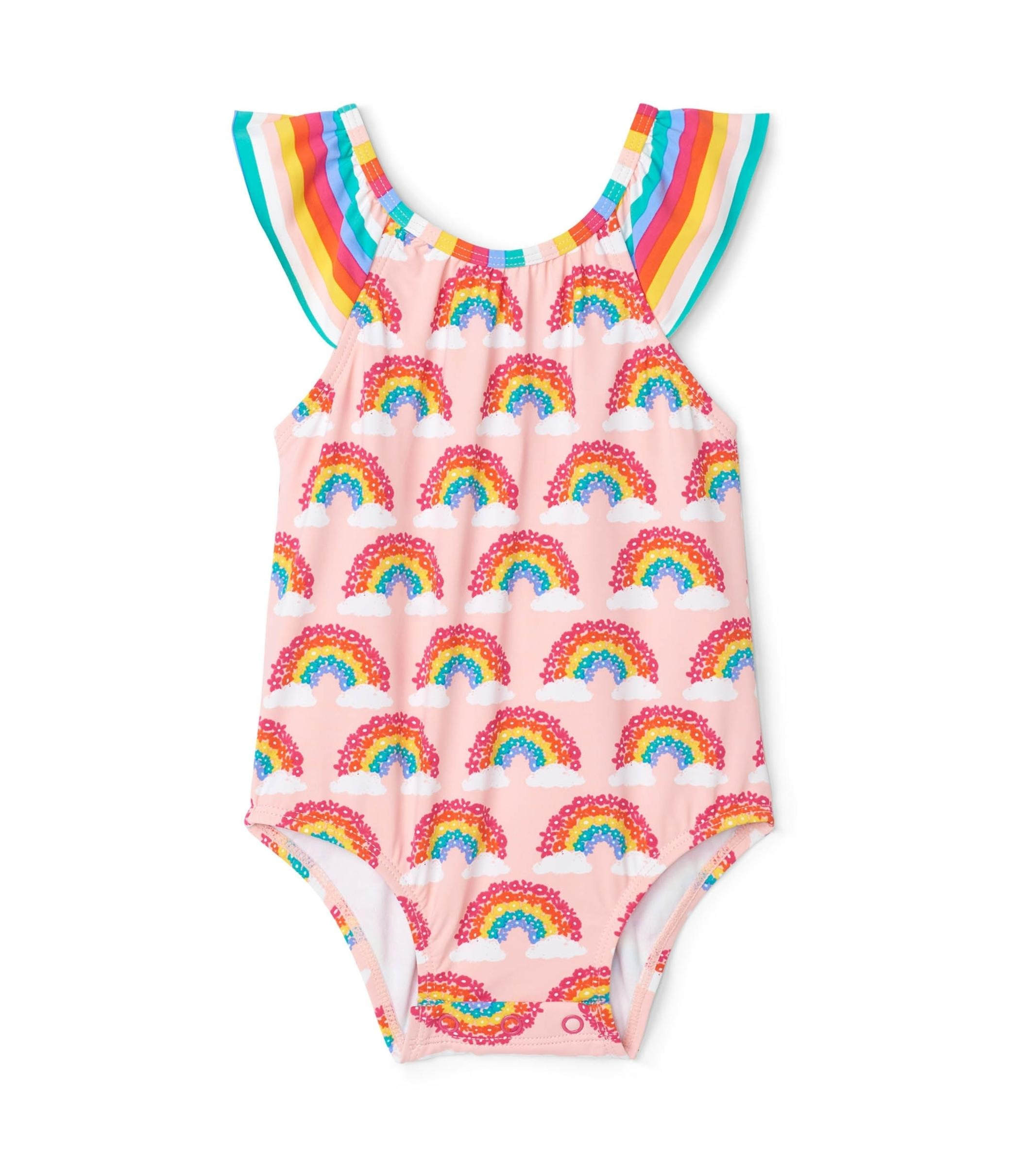 Hatley Baby Ruffle Swimsuit - Magical Rainbows