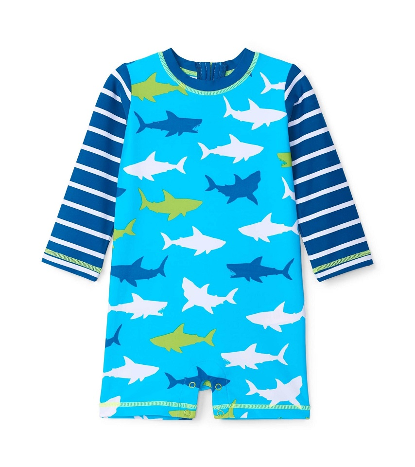 Hatley Rashguard One-Piece - Great White Shark