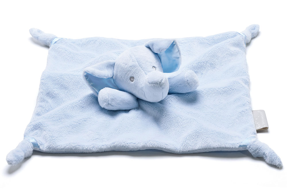 Save Our Sleep Elzzie Elephant Blue Comforter
