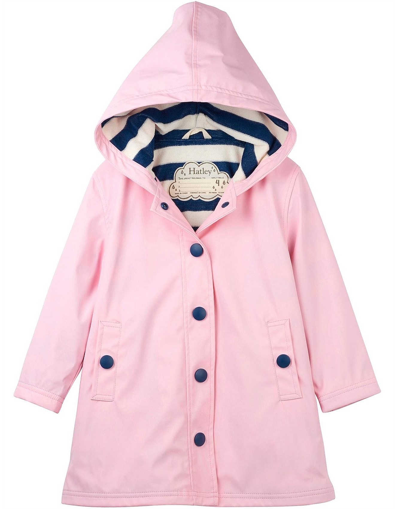 Hatley - Splash Raincoat - Pink & Navy 2019 **
