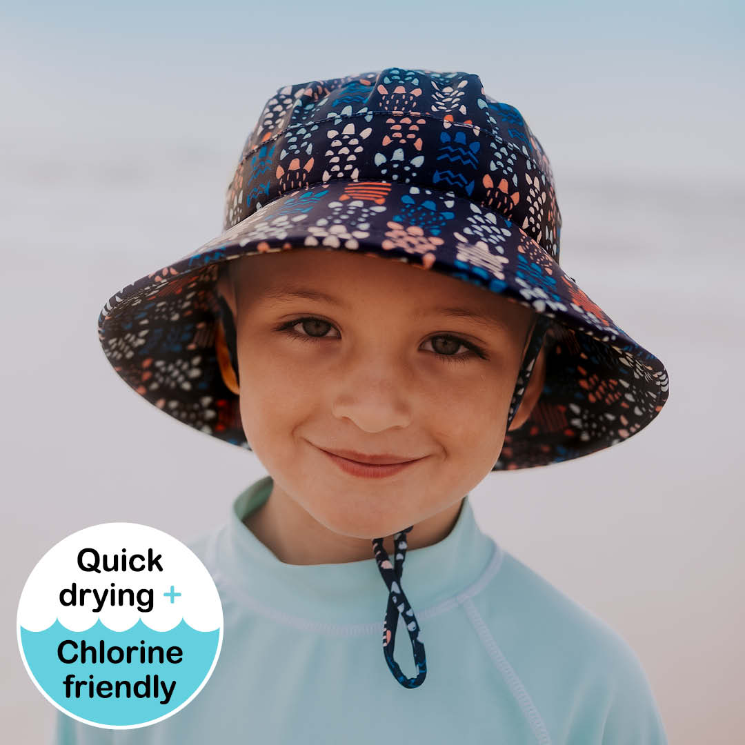 Bedhead - Kids Beach Hat Bucket UPF50+ - Turtle