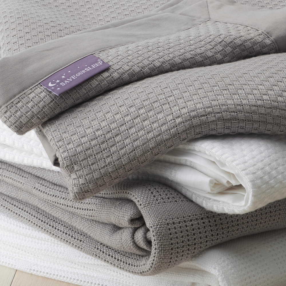 Save Our Sleep Cot Bamboo Heirloom Silver Blanket (*95% Organic Bamboo)