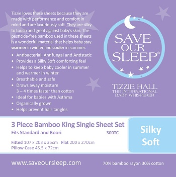 Save Our Sleep King Single Bed Sheet Set