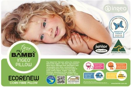 Bambi Ecorenew Junior Pillow 5+ Years