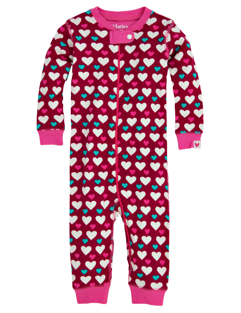 Hatley Babygro - Lots of Hearts - Footless