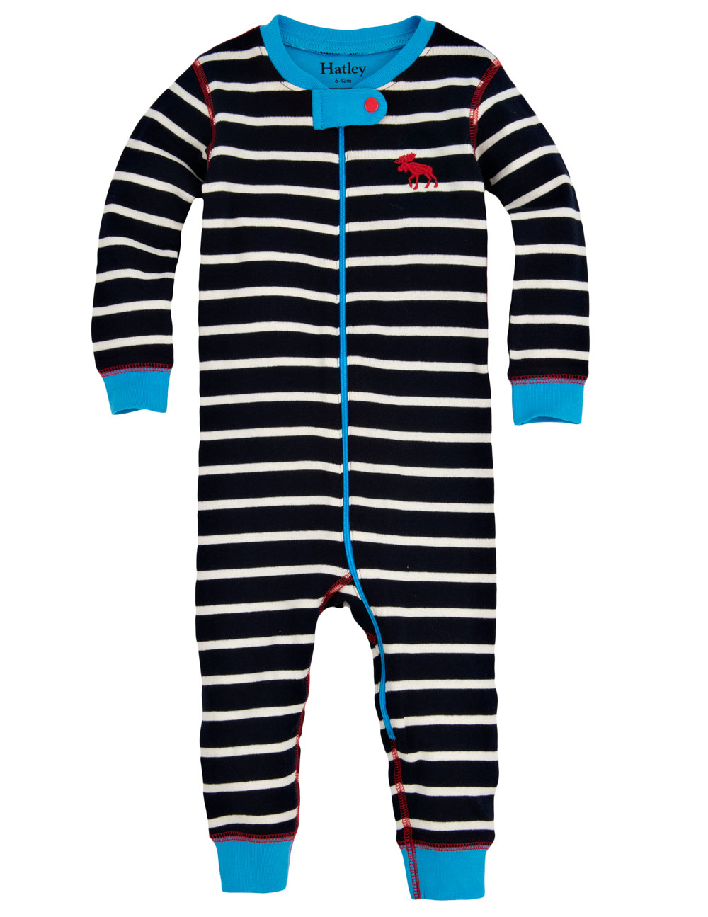 Hatley Babygro - Navy Stripe - Footless