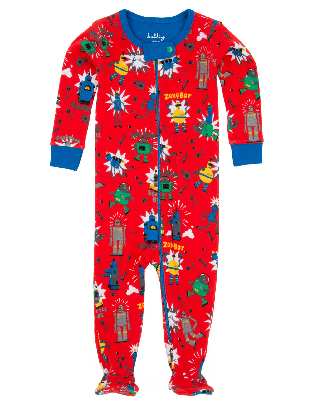 Hatley Babygro with feet - Robots - 3-6mts (2)