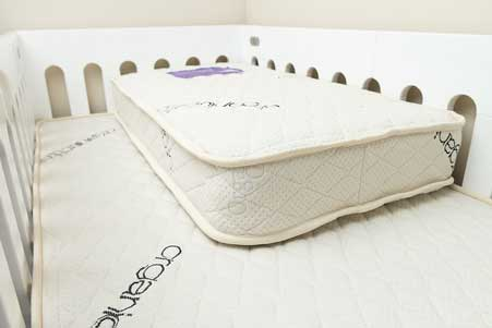 Save Our Sleep Cot Mattress (Organic cotton cover, Italian springs) - 1310mm (L) 760mm (W) 125mm (H)